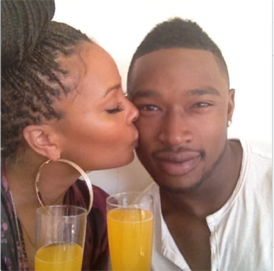 Eva Marcille + her new boyfriend rapper Kevin McCallat the annual Roc NationPre-Grammy Brunch…