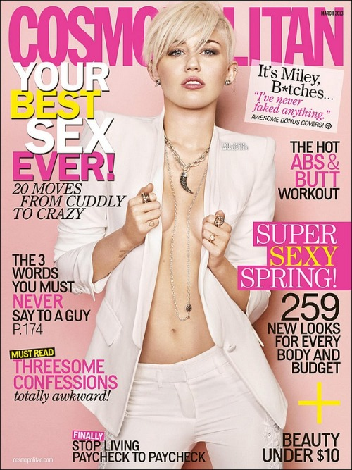 love love love it!! Miley Cyrus's cosmo cover!! That's cool:) little fingers heart is tattoo? or ring? so cute!