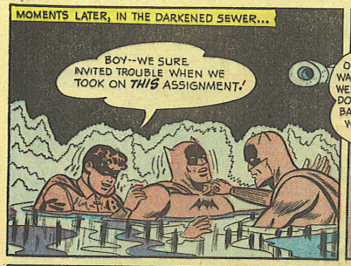 Trouble in the darkened sewer!