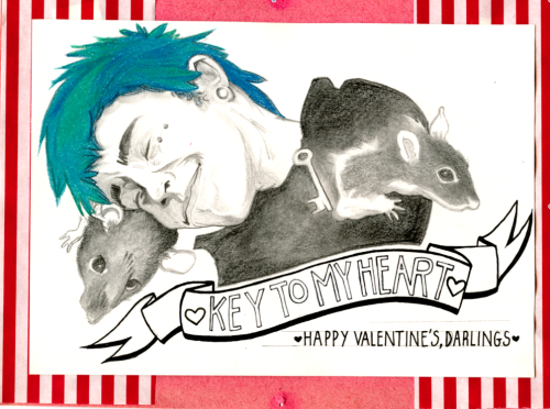 safetymeeting:  early valentines wishes, but from a card i made for mitch last year~ quality's a bit shit for tumblr :c