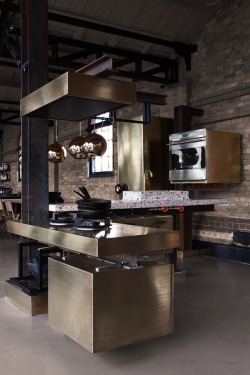 justthedesign:  TD Beam Kitchen By Tom Dixon And Lindholdt Studio