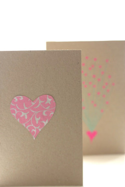 Pretty pink handmade cards