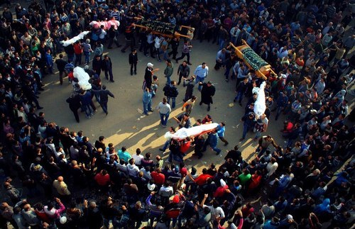 #Syria - Photo: Paying the martyrs their last honor in the worldly life. These martyrs perished in a bomb carried out by the regime in HOMS city in Syria on December 2nd 2012.