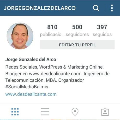 """La verdad es que empecé a usar @Instagram (la red social de fotografías y vídeos), sin esperar demasiado.  ¿Otra red social más? ¿De fotos?  Sin embargo, con el paso del tiempo, y quizás debido el """"excesivo ruido"""" y """"publicidad"""" (encubierta o no) que hay en otras redes sociales, me he dado cuenta de que cada vez me lo paso mejor en Instagram.  ¡Muchas gracias a mis 500 seguidores en #Instagram por vuestra creatividad, ingenio y humor!  Gracias a todos los Instagramers por enseñar fotos tan alucinantes, y sobre todo, gracias por mostraros al mundo tal y como sois. (en www.desdealicante.com)"""