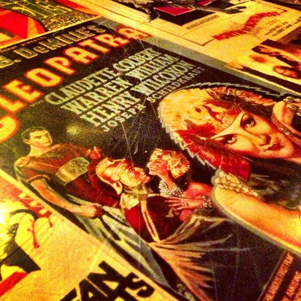 parislemon:  Poster table.  (at 13 Bar & Restaurant)  Cool