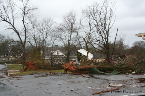 Tornado damage in Adairsville, GA