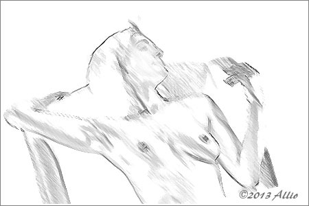 "Life Drawing | ""Comfort""Comfort 