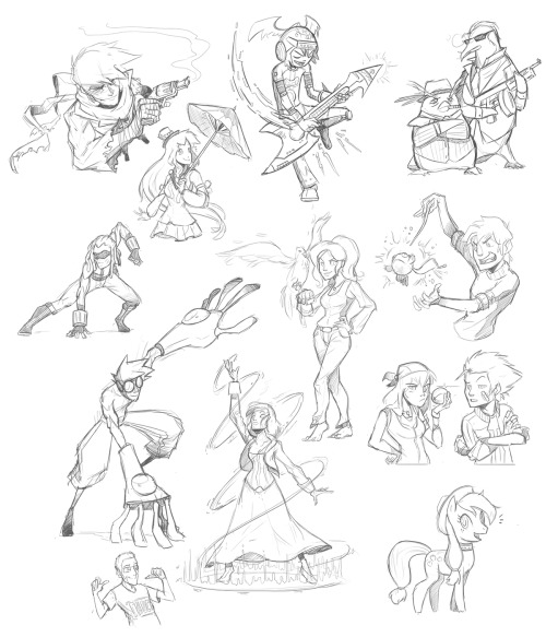 Sketches from the Livestream! Lots of OCs this time!