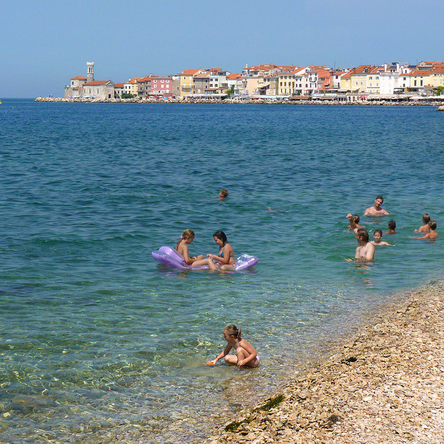 | ♕ |  Adriatic summer - Beach at Piran  | by © B℮n