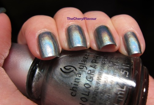 thecherylflavour:  Swatch: China Glaze Cosmic Dust Cosmic Dust from the China Glaze Hologlam 2013 Collection See full post here