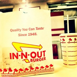 It's feelin like the #westcoast already #Innoutburger