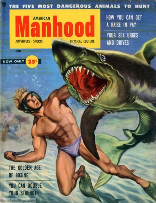 (via Men's Adventure Magazines: In search of the mysterious pulp illustration artist Peter Poulton…)