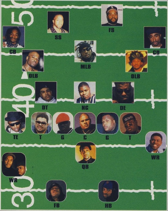 The Source's 1996 Rap Superbowl Roster