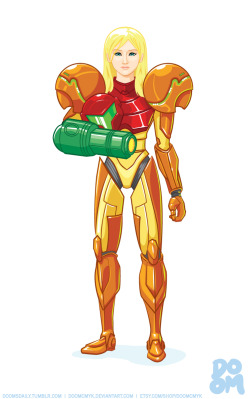 Samus drawn in Adobe Illustrator CS6 by Robert Mangaoang aka Doom CMYK Tumblr / Deviant Art / Etsy