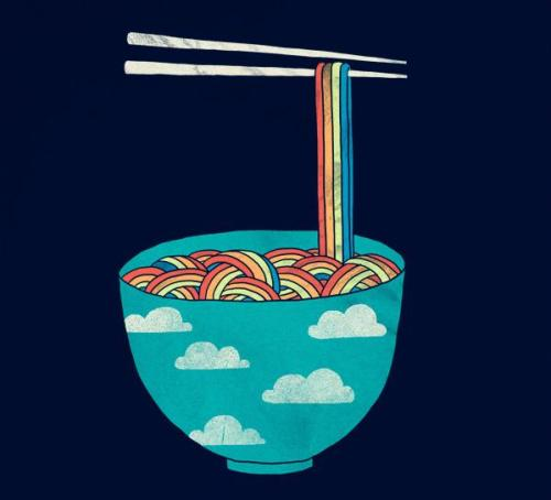 "monochorus1:  create-tivity:  ""Rainbowl"", Illustration by Lim Heng Swee  xxx"