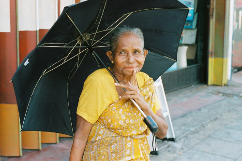 Beautifully aged Sri Lankan lady