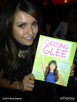 ninadobrev:  Ahhhhh Just picked up my copy of #choosingglee @JennaUshkowitz 's new book!!! So proud of you woman… You better sign my copy!  View more Nina Dobrev on WhoSay   Jenna is one of my favorite people from Glee! Love that she's written a book!