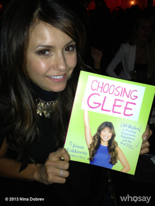 ninadobrev:  Ahhhhh Just picked up my copy of #choosingglee @JennaUshkowitz 's new book!!! So proud of you woman… You better sign my copy!  View more Nina Dobrev on WhoSay