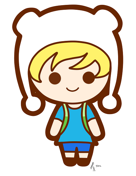 chibi finn by ~roleholder on deviantART on We Heart It.  CHIBI FINN!!!  super cute!! >.