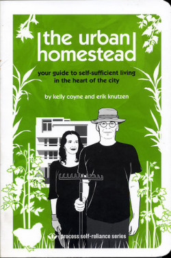Pioneers Press Book of the Day!  The Urban Homestead: Your Guide to Self-Sufficient Living in the Heart of the City by Kelly Coyne  The Urban Homestead is the essential handbook for a fast-growing new movement: urbanites are becoming gardeners and farmers. By growing their own food and harnessing natural energy, they are planting seeds for the future of our cities. If you would like to harvest your own vegetables, make homemade jam or bread, raise chickens or convert to solar energy, this practical, hands-on book is full of step-by-step projects that will get you started homesteading immediately, whether you live in an apartment or a house. It is also a guidebook to the larger movement and will point you to the best books and Internet resources on self-sufficiency topics. http://pioneerspress.com/catalog/books/3107/