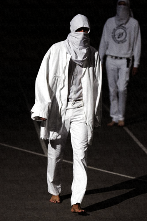 Raf Simons Spring 2002 | Woe Onto Those Who Spit on the Fear Generation…The Wind Will Blow it Back