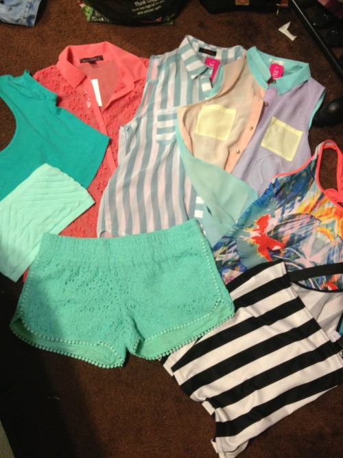 My weekend haul!! Check back to see how I style them this summer!!