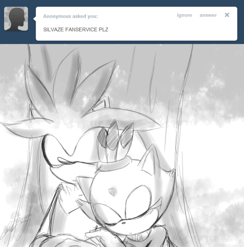 asksilverthehedgehog:  ((It's irrelevant :3c))  uh op no offensive but i'm not really happy with the lack of crediting since it's clearly inspired by my ask http://asksilver-the-hedgehog.tumblr.com/post/15393823980/sorry-if-your-question-hasnt-been-answered-yet
