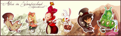 """Alice in Wonderland"" Sticker Set by 13crowns"
