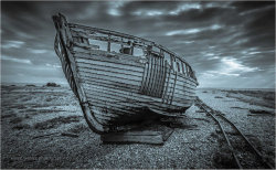 vincewinterphotography:  Old Fishing Boat, Dungeness Beach on Flickr.