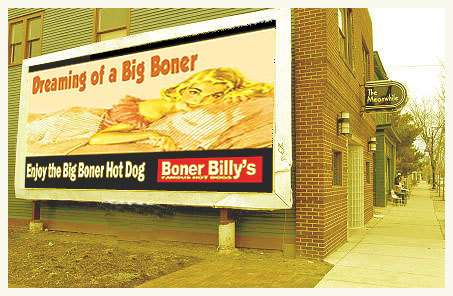 Boner Billy's Vintage Signage Arizona  This picture sent in from a family on vacation at the Grand Canyon in 1958. We are told dad took this when they stopped for lunch in Flagstaff, Arizona