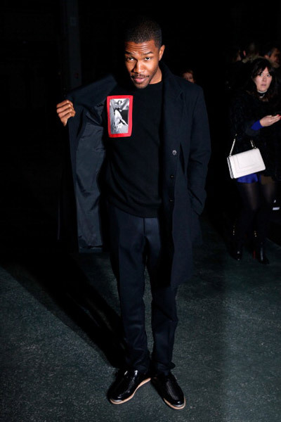 iamanewman:  Frank at the Givenchy Fall/Winter 2013 Ready-to-Wear show,