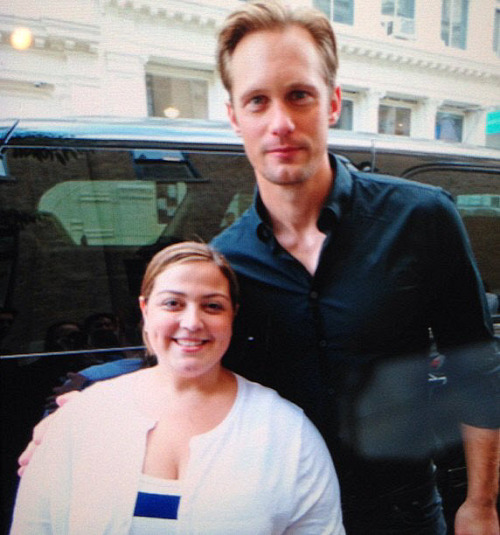 "santress:  ""Eeeeeeeeeee!!!! I finally met AlexanderSkarsgard!!!! Thanks to @_giselle OMG HE'S GORGEOUS!!!!"" -FutureMrsMars @ twitter"