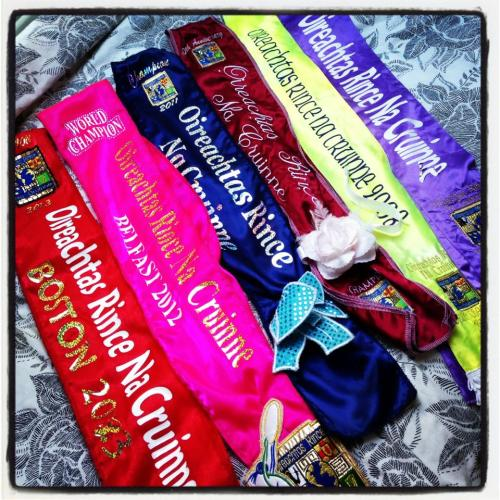 Niamh Taylor's worlds sashes