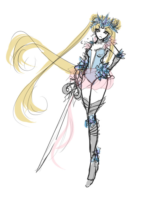 simplysailormoon:  kyat:  color concept. i might flesh this out tomorrow… when i dont have work in two hours.  WHY DID THIS NOT SHOW UP THE FIRST TIME, DUMB TAG. I'M EXCITED!