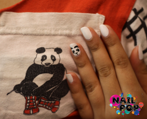nailpopllc:  Jenyffer Maria came by today for a panda surprise! Facebook | Shop  Panda surprises by nailpopllc are the best, amirite!? Look iiiiiiitttttttttttttttt!