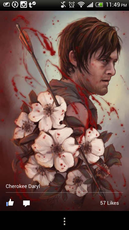 Reedus fans , twd fans.  Anyone .. I need your help to find out who did this originally !?! I NEED to know.. I want to get it done as a tattoo but would love to get the Artists permission first. There is a small signature in the bottom … You can barely see it… any help would be great !!! Please!!!!
