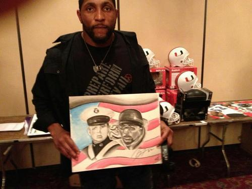 "Photo: Baltimore Ravens linebacker Ray Lewis signed a portrait by a member of the church where the Lilliston family attends. The portrait features Joshua alongside Lewis and will be auctioned off with proceeds to benefit a local school. It has been more than a year since Joshua Lilliston, a member of the Virginia Tech Corps of Cadets, lost his battle with a rare form of eye cancer. To honor their fallen classmate, the cadets donated the proceeds from their annual Shadow Day fundraiser to the the newly created Joshua Lilliston '14 Memorial Scholarship fund. The recipient of this scholarship is an upperclassman in the Virginia Tech Corps of Cadets with a medical condition preventing the student from entering the military. If you'd like to make a tax-deductible donation to this fund, you can donate online, or send a check to the Virginia Tech Foundation with ""Lilliston Scholarship"" on the memo line. The address is Virginia Tech, University Development 0336, Blacksburg, VA 24061, Attention VTCC. About Shadow Day Each year, the Corps of Cadets has a Shadow Day in which freshmen cadets bid for a chance to shadow high-ranking upperclassmen in leadership positions. The event takes place over two days. The top bidders shadow their upperclassman on the first day to learn about the leadership position they hold. On the second day, the freshmen take over the upperclassmen positions and rank and lead the regiment for the day."