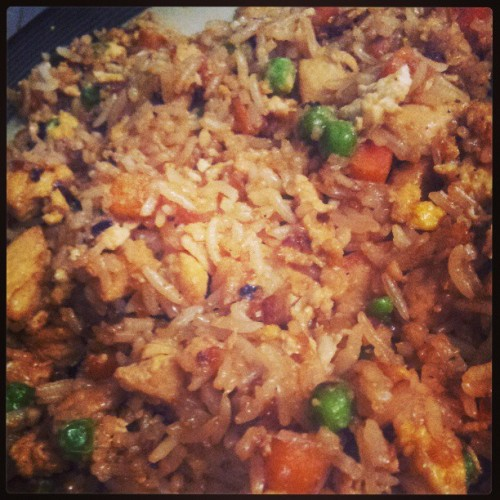 Delicious teriyaki chicken fried rice. Made by my amazing boyfriend @oh_boy_tee88 #chicken #food #friedrice #delicious #yummy #teriyaki #foodporn #foodgasm #amazing #boyfriend
