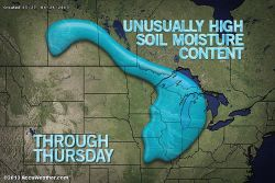Too Wet to Plant in the Midwest  While the situation is not serious, frequent rainfall, chilly conditions and muddy soil over much of the Midwest this spring has delayed planting for the time being.