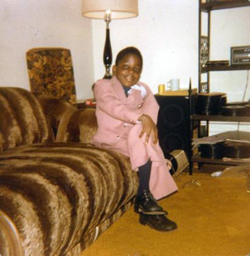Notorious BIG graduating kindergarten.  Baller from a young age.