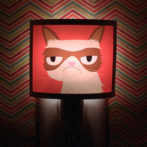 Grumpy Cat Night Light and Mouse Pad