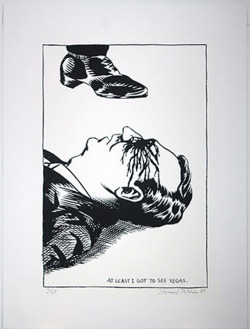 Raymond Pettibon, At Least I Got To See Vegas, 1998 via paddle8
