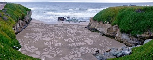 Flower Sand Art by Andres
