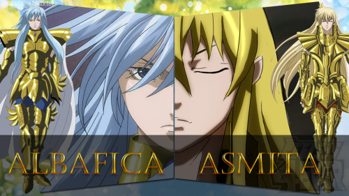 Wallpaper: Albafica e Asmita - The Lost Canvas   Um wallpaper especial para os fãs do Albafica de Peixes e Asmita de Virgem de Os Cavaleiros do Zodíaco: The Lost Canvas o Mito de Hades download aqui