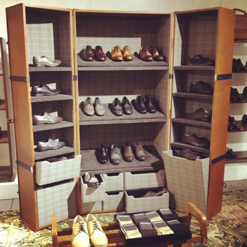 gqfashion:  Shoes anyone? @dolcegabbanaofficial  I actually want to set up a rack like this. :)