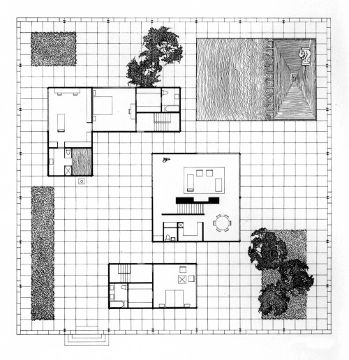 Philip Johnson, Burden House, Plan