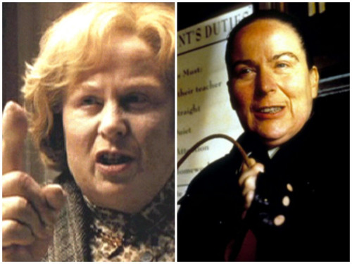 maybe-a-muggle:  How did I not realize they were played by the same woman?? piles of harry potter