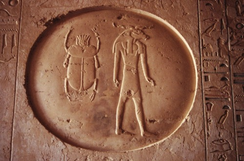 """The Egyptian scarab amulet represents immortality and the belief in reincarnation. The scarab symbolizes the dung-beetle. The dung-beetle was revered in by the Egyptians for its actions rolling dung balls across the earth. Egyptians believed the beetle's laborious activity emulated the rotation of the sun, thus awarding the scarab ""God Status."" Egyptians wore scarab amulets to protect them from death. Scarabs were also included in their burials to insure a safe journey into the afterlife."""