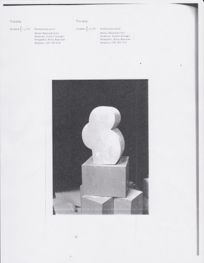 A PAGE FROM + BRANCUSI  timidity, undated no.201