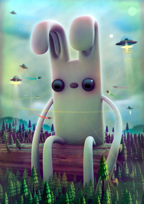 heavygraffic:  Jonathan Ball /pokedstudio - Sitting Rabbit